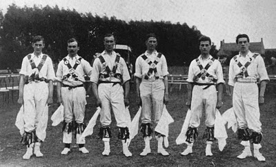 Butterworth, second from right, in full Morris gear.