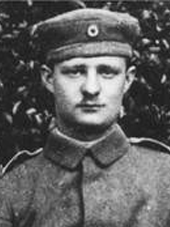 Paul Hindemith in the uniform of the Reserve Infantry Regiment 222