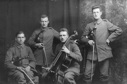 Paul Hindemith and his quartet, 1918 (image courtesy of Hindemith Foundation