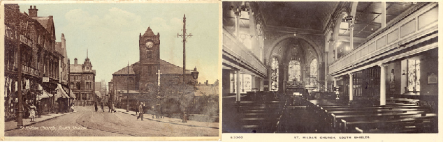 Postcards of St Hilda's South Shields from 1910