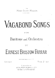 Title page of Ernest Farrar's Vagabond Songs of 1913
