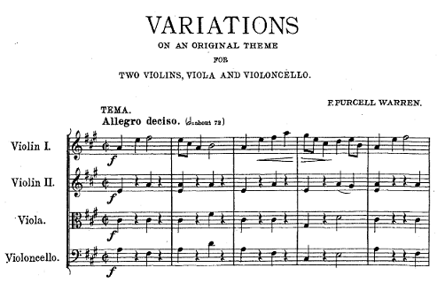 First lines of Warren's Variations